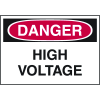 Danger Labels - High Voltage (Text Only)