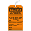 Jumbo Cardstock Tear-Off Safety Tags - Warning Tag Attached Because