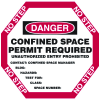 Manhole Warning Barrier - Confined Space Permit Required