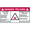 NEC Arc Flash Protection Labels - Bilingual - Arc Flash Hazard / Riesgo De Arco Electrico