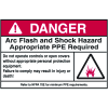NEC Arc Flash Protection Labels - Danger Arc Flash And Shock Hazard