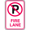 No Parking Signs - Fire Lane with No Parking Symbol