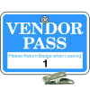 Numbered Badge Sets - Vendor Pass - Clip-On