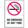 No Smoking  Any Time Signs