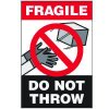 Fragile Do Not Throw Package Handling Label