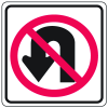 Prohibition Signs - No U Turn