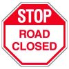 Road Construction Signs - Stop Road Closed