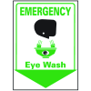 Emergency Eye Wash Safety Equipment Location Marker
