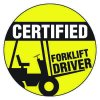Safety Hard Hat Labels - Certified Forklift Driver
