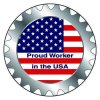 Safety Hard Hat Labels - Proud Worker