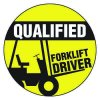 Safety Hard Hat Labels - Qualified Forklift Driver