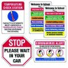 Social Distancing Signage Kit for Entryways  #1