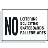 No Loitering Soliciting Security Signs