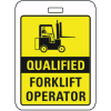 Specialty ID Badges - Qualified Forklift Operator