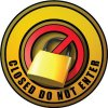 3D Wall Decal - Closed Do Not Enter - Yellow