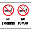 Bilingual Safety Signs - No Smoking