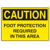 OSHA Caution Signs - Foot Protection Required In This Area