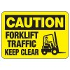 OSHA Caution Signs - Forklift Traffic Keep Clear