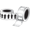 Poly-Code™ Clear Arrows-On-A-Roll™ Tape