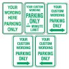 Custom Aluminum Parking Only Signs