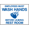 Deluxe Housekeeping And Cafeteria Signs - Wash Your Hands