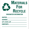 Drum Identification Labels - Materials For Recycle