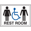 Economy Front Office Signs - Rest Room/Handicap