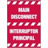 Electrical Warning Labels - Main Disconnect (Bilingual)