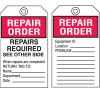 Equipment Inspection Tags - Repair Order Repairs Required