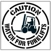 Large Floor Stencils - Caution, Watch for Forklifts