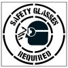 Large Floor Stencils - Safety Glasses Required