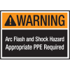 Hazard Warning Labels - Warning Arc Flash And Shock Hazard Appropriate PPE Required