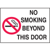 Graphic No Smoking Signs - No Smoking Beyond This Door