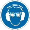 International Symbols Labels - Eye & Ear Protection Required (Graphic)