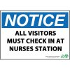 Notice All Visitors Check In Sign