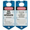 Brady Labeled Lockout Hasps (Blue) - Part Number - 65962 - 5/Pack