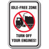 Idle Free Zone Signs