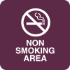 Non Smoking Area Optima Policy Signs