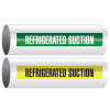 Opti-Code™ Self-Adhesive Pipe Markers - Refrigerated Suction