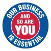 COVID-19 Signs - Our Business is Essential