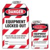 Padlock Lockout Tags - Danger Equipment Locked Out