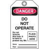 Self-Laminating Photo Lockout Tag - Do Not Operate
