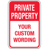 Custom Aluminum Parking Signs - Private Property