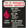 Fire Or Emergency Elevator Operation Glow-In-The-Dark Fire Exit Sign