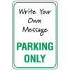 Temporary Parking Signs - Parking Only