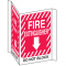 Fire Extinguisher Do Not Block 3-Way View Fire Safety Signs