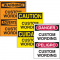 Custom Bilingual Hazard Warning Labels