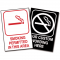 Custom No Smoking Signs with Engraved Graphic