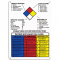 Hazardous Material Information Sign - With NFPA Diamond and Rating Explanation Guide