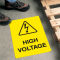 Safety Floor Signs- High Voltage (With Graphic)